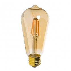 Filament bulb ST64 - amber